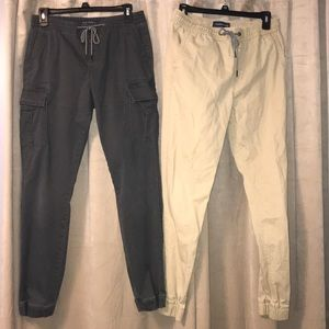 Set of 2 X-Small Aeropostale Cargo Joggers